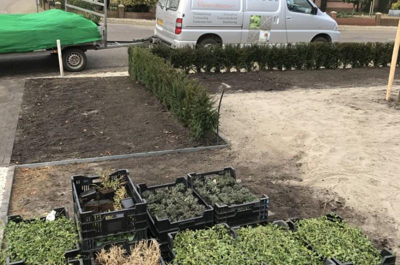 Lopend project januari 2019, aanleg tuin vrijstaande woning