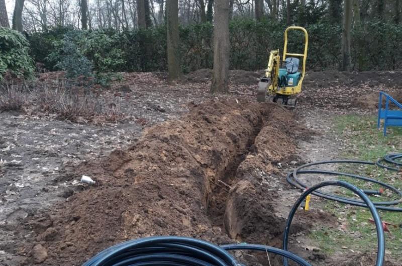 Lopend project 2019, aanleg watergeef systeem tuin