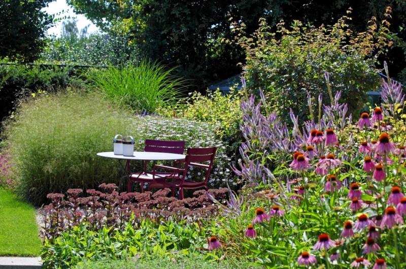 Bloeiende planten borders